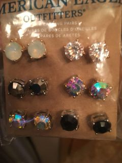6 pairs of American Eagle earrings. Brand new