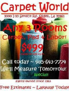 Laminate~Carpet~Tile~Great Specials [phone removed]