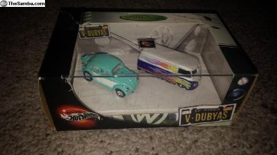 hot wheels v-dubyas. 2 car set