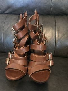 Size 7.5 Brown Heels (Mossimo)