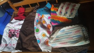 Handmade kitchen towels,dish rags, and ones you can sit hot items on