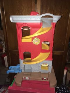 Fisher price firehouse ramp