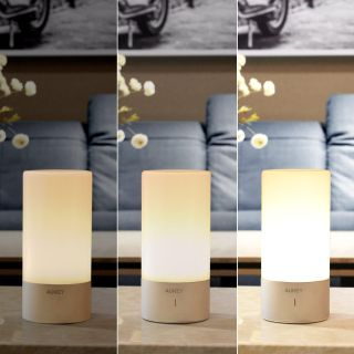 AUKEY Table Lamp, Touch Sensor Bedside Lamps + Dimmable Warm White