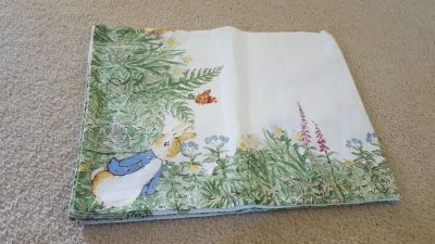 Pottery Barn Kids Easter Peter Rabbit Tablecloth