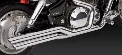 Sell Vance & Hines Big Shots Staggered Exhaust System 18417 Honda VTX1800C 02-08 motorcycle in Pomona, California, US, for US $593.95