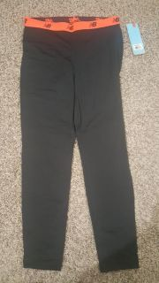 New Balance black long tights large with tags