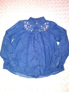 OshKosh jeans shirt w/ embroidered flowers size 10. Pick up in Deer Island.