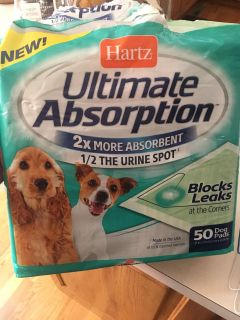Partial Package of Dog Pads