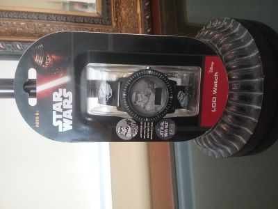 SEALED DISNEY STAR WARS LCD WATCH
