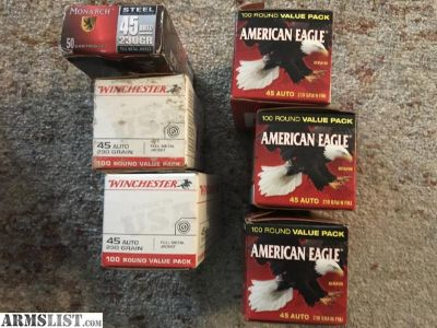 For Sale: .45 auto 230gr fmj