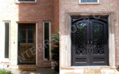 Exterior Entry Iron Doors