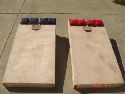 $92, Hand Crafted Corn Hole, Bags,  Corn Toss Games