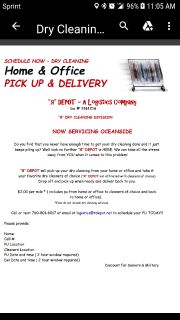 R Depot - A Logistics Company Dry Cleaning PU and Del Service