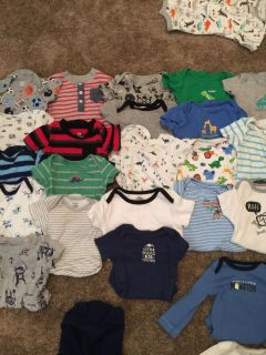 Bundle of baby boy clothes 0-3, 3 months and 3-6 months