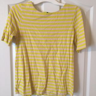 Loft yellow and tan top size small.