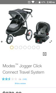 Graco click and connect travel system stroller car seat and base