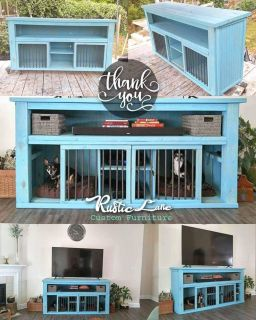 Dog kennel Tv stand