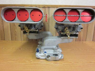SBC Offenhauser (2) 4bbl cross ram