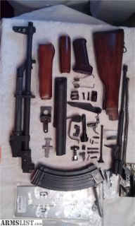 For Sale/Trade: AK47 AKM 100% totally complete IO Inc. parts kit with populated barrel & very nice wood stock set!