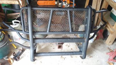 $450, 2009-2014 Ranch Hand Grill Guard and stock wheels