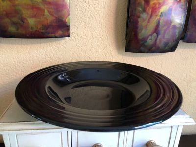 "FIESTA 12"" Rimmed Individual Pasta/Soup Bowl in Black - Retired Color Made from 1986-2014"