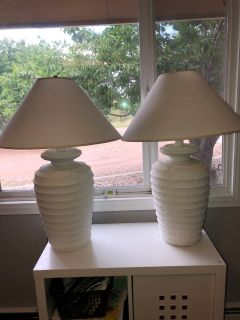 2 white lamps $15.00