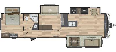 2018 Keystone Residence 40MBNK