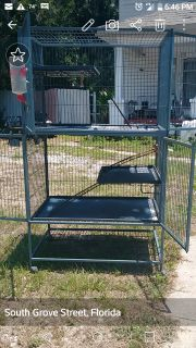 Cages. Good for birds, ferrets, chinchillas, rats