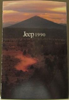 Buy 1990 Jeep Small Sales Brochure Comanche Wagoneer Cherokee Wranger Original motorcycle in Holts Summit, Missouri, United States, for US $13.90