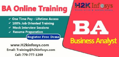 BA Online course & FREE Project Management Training by H2K Infosys.