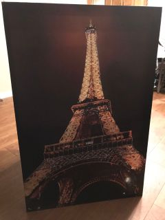 Eiffel Tower stretched canvas picture
