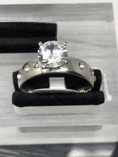 Silver Cz Ring Size 10