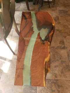 Handcrafted Walnut River End Table/Coffee Table