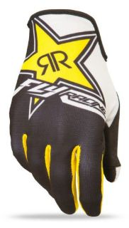 Sell FLY Racing Lite Race Rockstar MX Offroad Gloves Black/White/Yellow XS motorcycle in Holland, Michigan, United States, for US $29.66