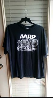 AARP - Aged Adults Riding Proudly black t-shirt. Great condition. Size 2XL