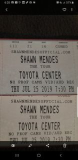 2 shawn Mendes concert tickets July 25