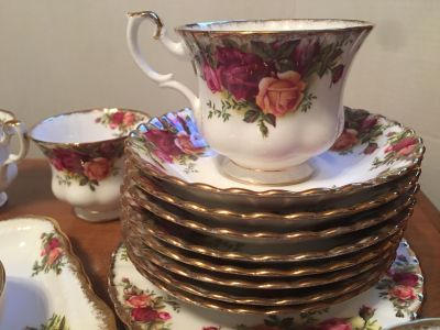 Royal Albert bone china tea cups and saucers and serving