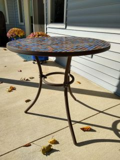 Patio Table, Mosaic Top