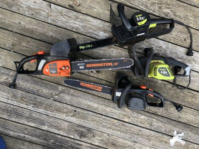 4 Electric Chain Saws DO NOT WORK