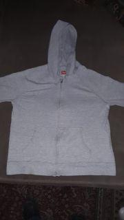 Boy's size Medium Light Gray Hanes Hooded Sweater
