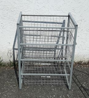 IKEA Antonius Frame & Slide-Out Wire Baskets - Silver - New Condition - 17.5 x 21 x 27.5 inches high