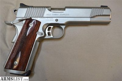 "For Sale: USED KIMBER GOLD COMBAT STAINLESS 45ACP 5"" CASE"