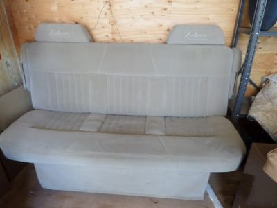 Full size Van/camper bench seat folds open to make large sleeper bed