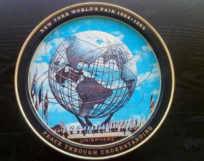 Vintage Tray from the World's Fair in New York 1964/1965