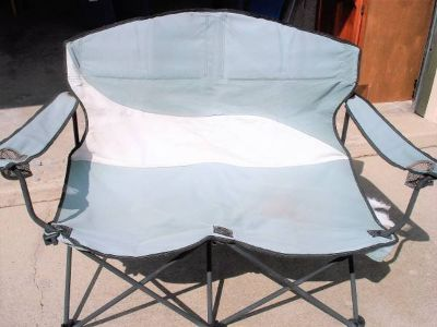 foldable double loveseat folding stadium chair