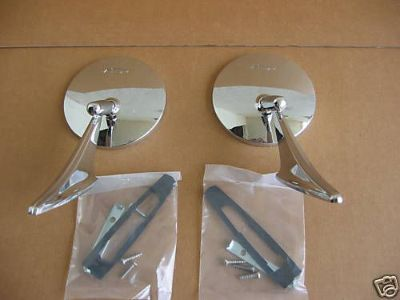 Sell 66 67 68 Chevelle El Camino Exterior Mirror Kit Bowtie motorcycle in Placentia, California, United States