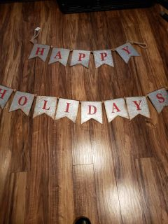 Galvanized metal holiday hanging new with tags