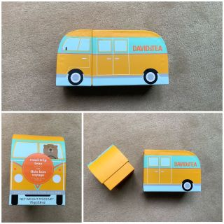 Davids Tea school bus box (empty )