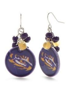 ***BRAND NEW Eye Of The Tiger LSU Earrings***