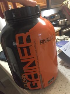 RivalUS Clean Gainer chocolate protein powder (5lb) used a few times LOTS LEFT expires5/5/19